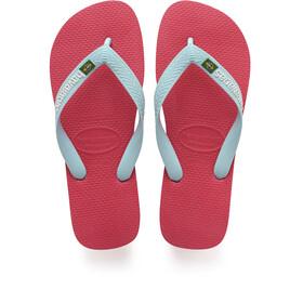 havaianas Brasil Logo Sandals red